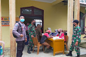 TNI-Polri Kawal Vaksinasi Di Kecamatan Tabir