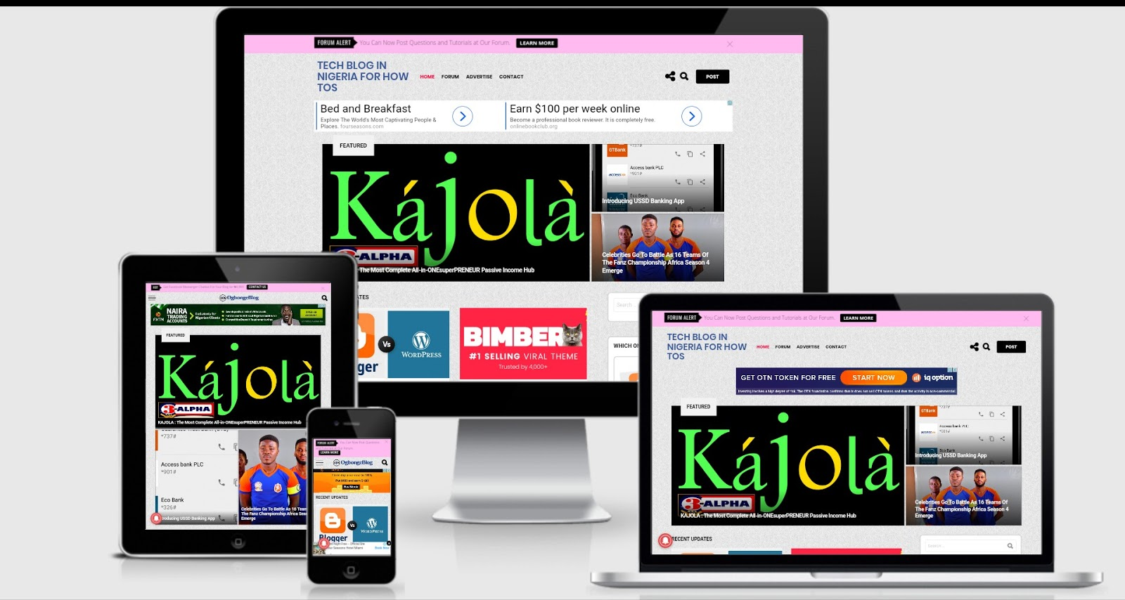 responsive kajola website