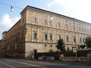 The Palazzo della Cancelleria in Rome was Cardinal Ottoboni's home as vice-chancellor of the Holy Roman Church