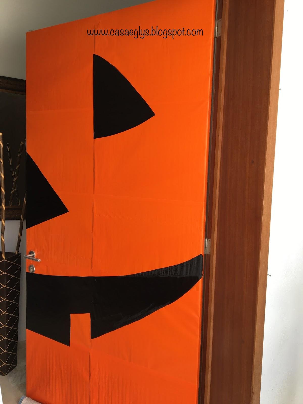 Casa eglys decoraci n puerta halloween - Papel para puertas ...