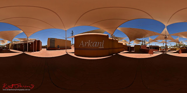 Arkani Theatre Cultural Hub - Sails Resort Uluru Hi-Fidelity 360 Panorama Photography by Kent Johnson
