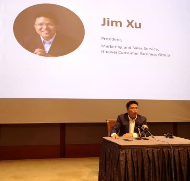 Jim Xu, the President of Marketing and Sales Service of Huawei Consumer Business Group