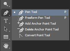 Seleksi menggunakan pen tool untuk menghapus background