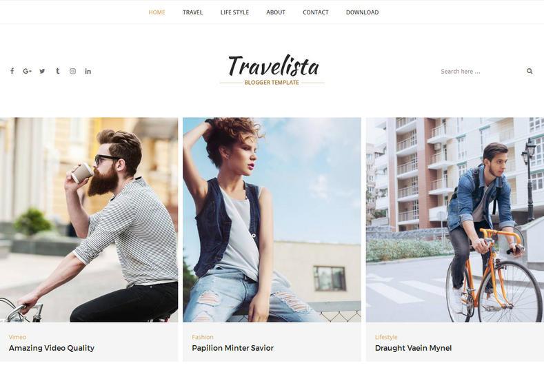 Travelista Tour Blogger Template