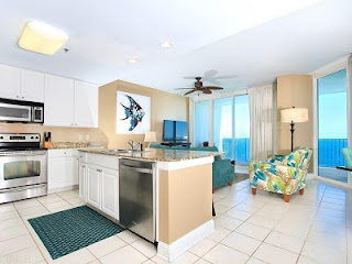 Lighthouse Condo For Sale Gulf Shores AL Real Estate Unit 1415 Kitchen Living Room
