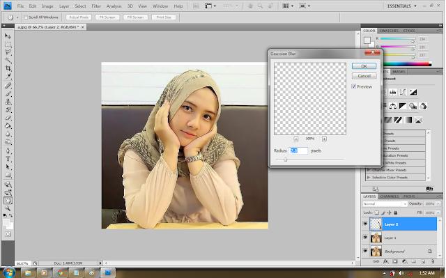 cara membuat foto bokeh tanpa dslr dengan photoshop