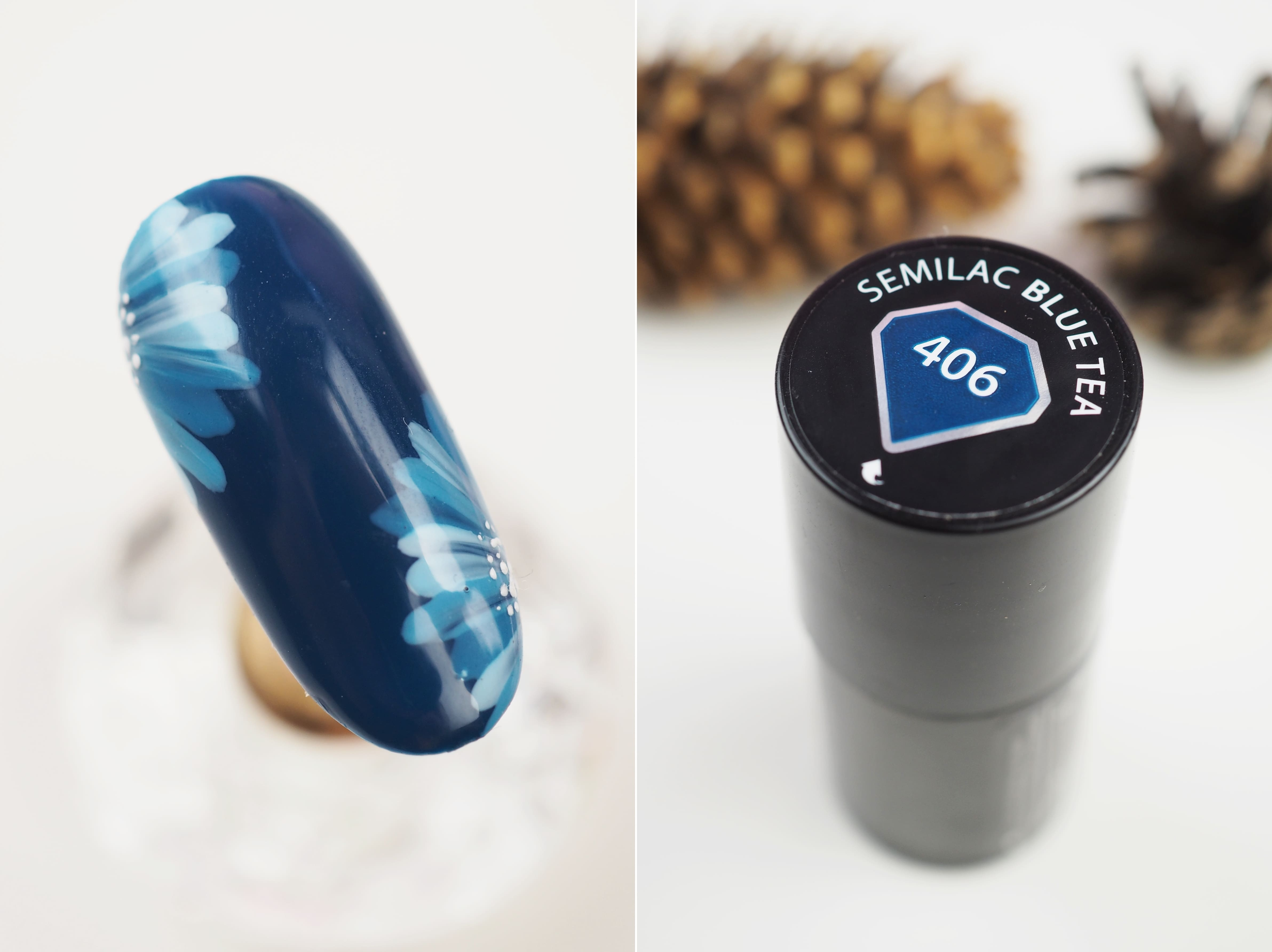 406 Blue Tea semilac