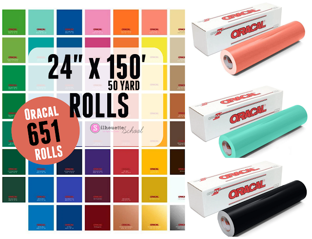 "24"" cameo 4 pro, cameo pro, oracal vinyl rolls, oracal 651, adhesive vinyl"