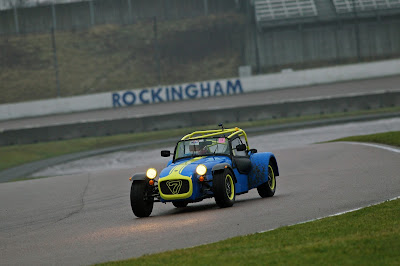 There wasn't much daylight at Rockingham even at 10am when this picture was taken