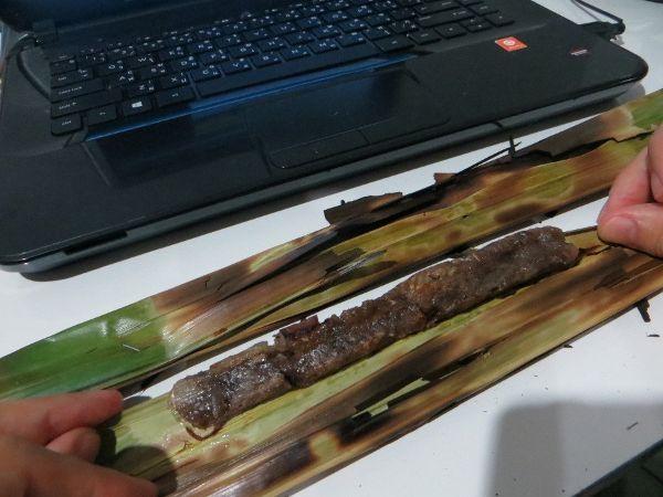 Тайская кокосовая стружка жареная на мангале
