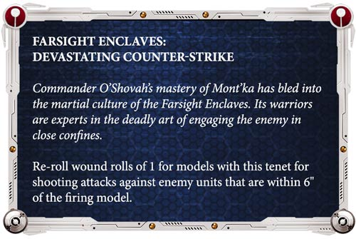 Reglas especiales Tau Farsight