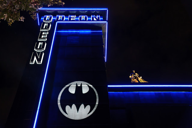 Batman Day 2021 Bat-Signal Odeon Luxe Leicester, London