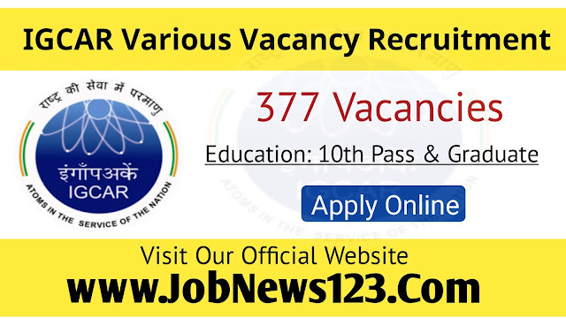 IGCAR Recruitment 2021: