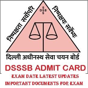 DSSSB Junior Stenographer Admit Card 2021