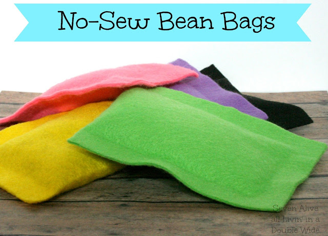 Easy No-Sew Bean Bags