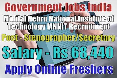 MNNIT Recruitment 2018