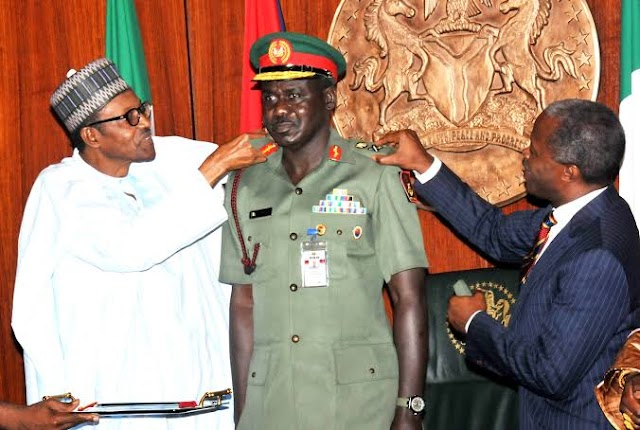 Buratai: Buhari Repaid My Father By Making Me Chief Of Army Staff