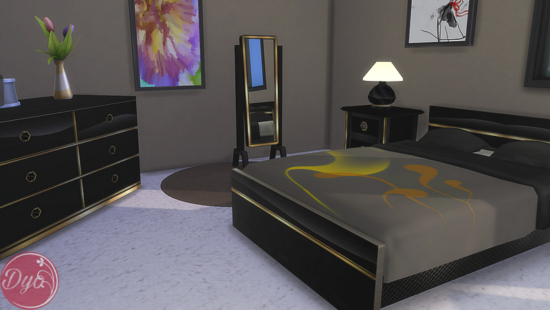 My Sims 4 Blog Black Gold Bedroom Set And Bedding By Dyokabb