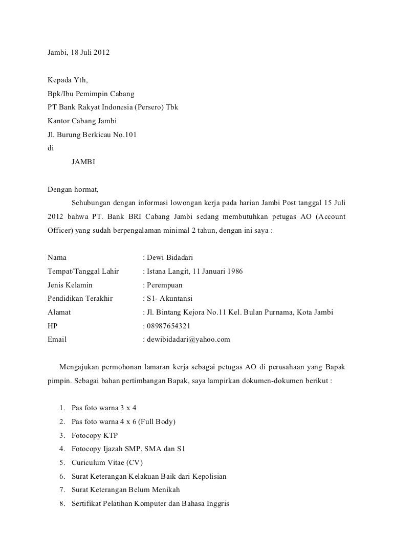 Contoh Surat Lamaran Kerja Accounting Dalam Bahasa Inggris Contoh Seputar Surat