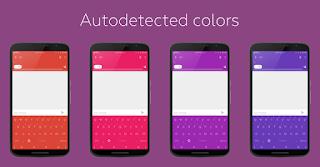 تغيير لون الكيبورد بواسطة  Flat Style Colored Keyboard Pro