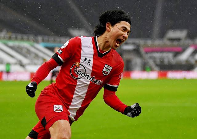 New loanee Takumi Minamino at Southampton
