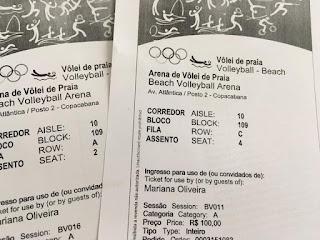 Dia 9 e 11 de Agosto - Arena Olímpica de Vôlei de Praia