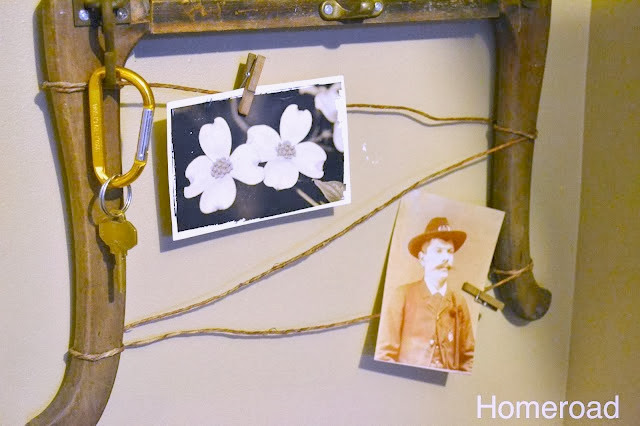 string to hold photos with clothespins