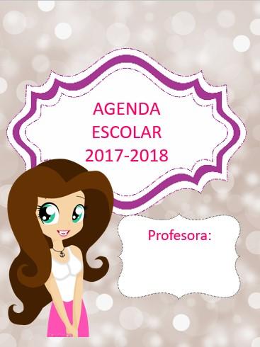 Agenda escolar versión 2 2017-2018 para imprimir