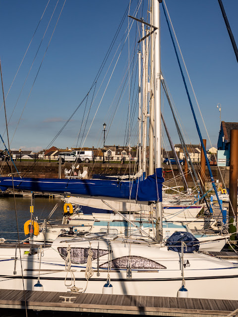 Photo of blue sky and sunshine at Maryport Marina on Wednesday