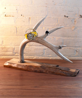 jewelry stand from deer antler