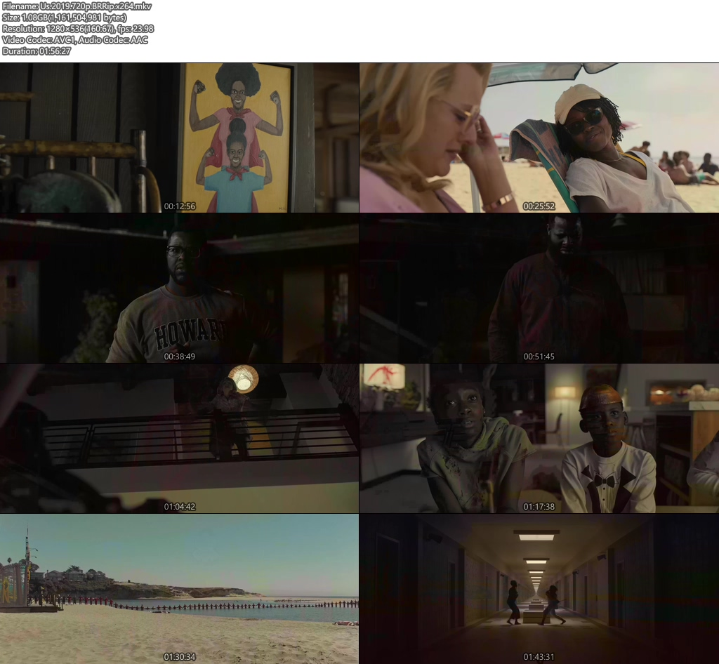 Us 2019 720p BRRip x264 | 480p 300MB | 100MB HEVC Screenshot