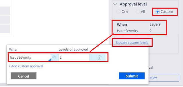 cascading approval with an reporting structure - custom level