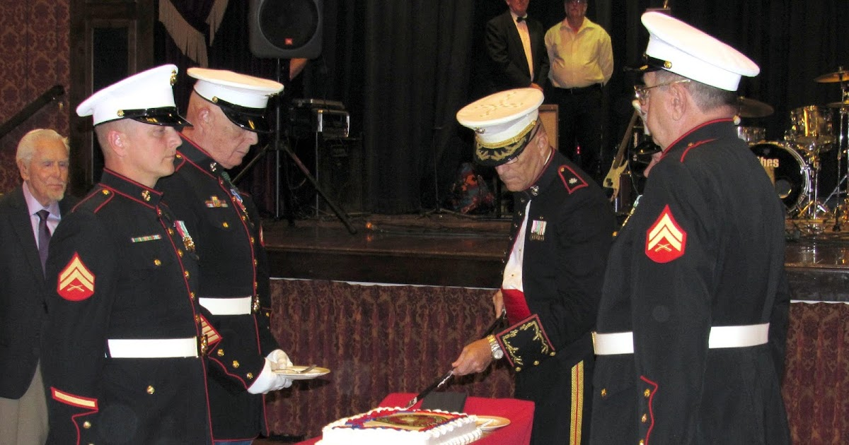 Marine Corps Birthday Ball Cake Cutting Time