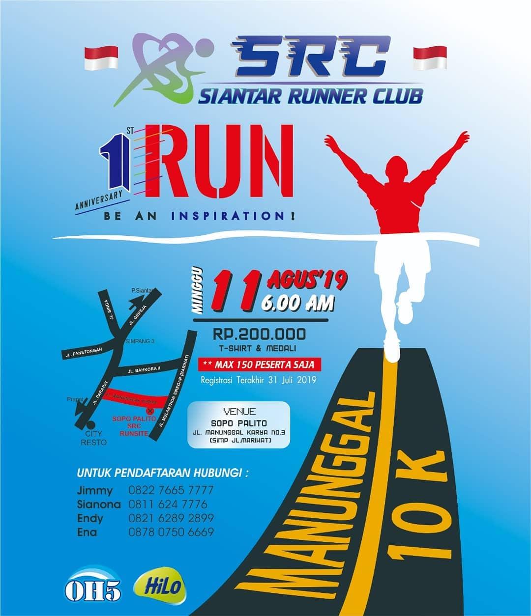 Siantar Runner Club / SRC 1st Anniversary Run • 2019