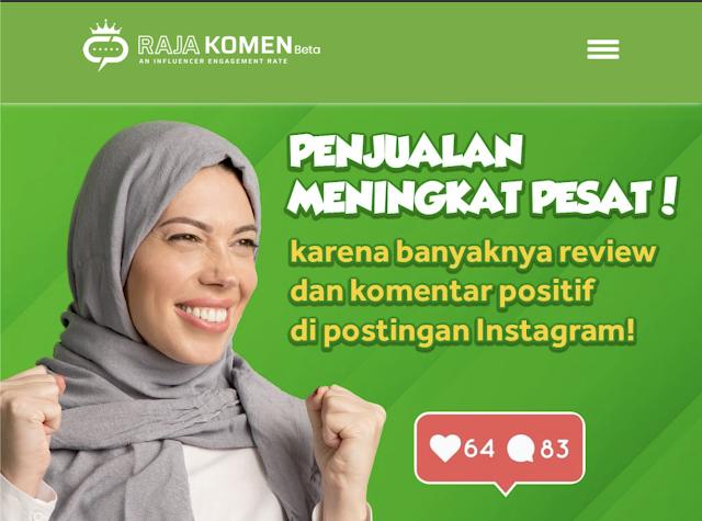 Rajakomen.com - menaikan engagement rate untuk meningkatkan penjualan produk