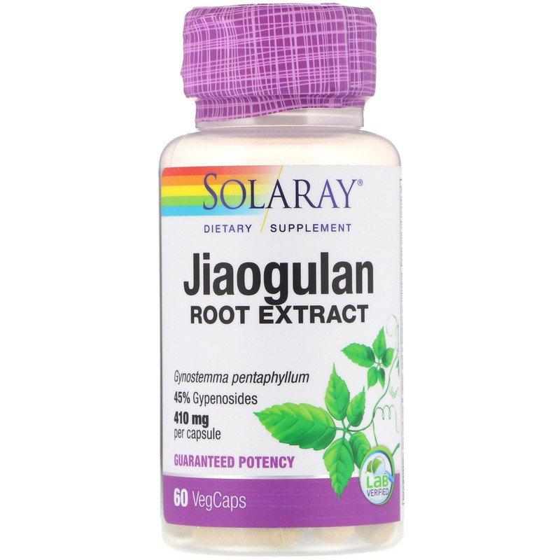 Solaray, Экстракт корня гиностеммы, 410 мг, 60 растительных капсул
