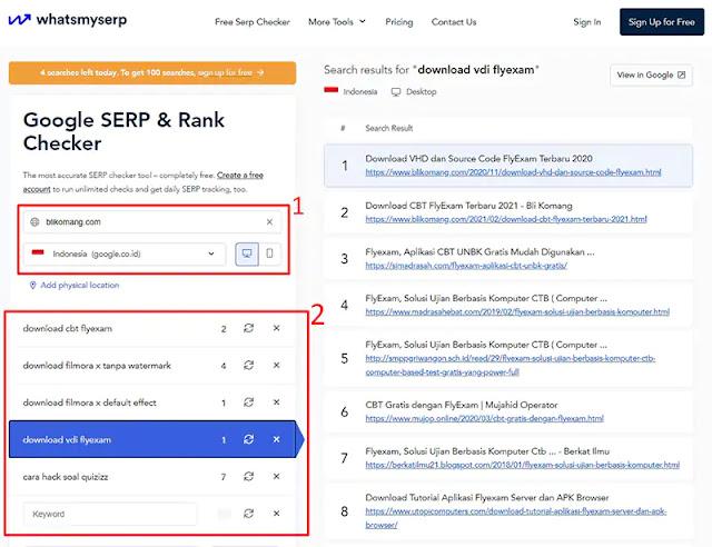 Cara Mengetahui Posisi/Ranking Artikel di Google