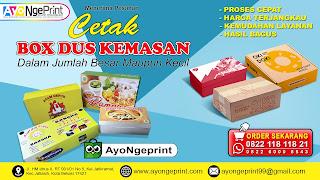 Cetak Dus Box Makanan Murah, Online & Cepat  di Bekasi, Jawa Barat