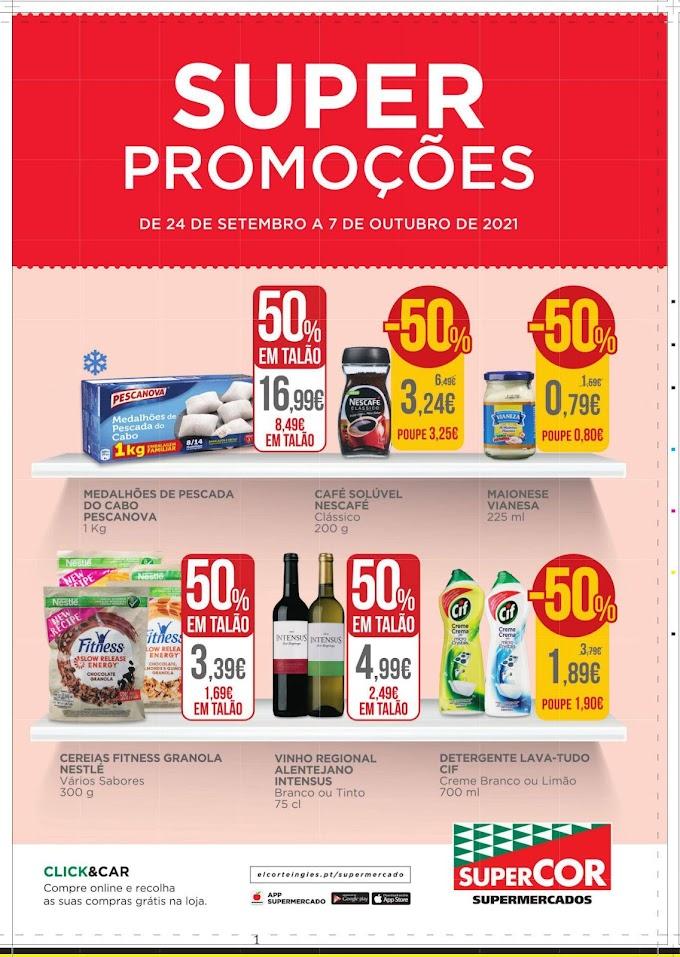 """Folheto EL CORTE INGLÉS -  """"Super Promoções"""" com vários descontos até 07 de outubro"""