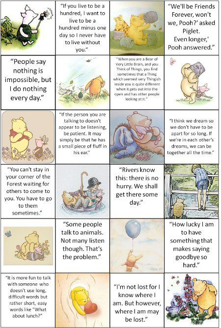 English Winnie The Pooh Quotes