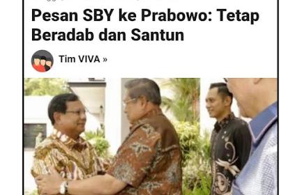Kenapa Prabowo Tak Mau Balik Menyerang Jokowi? Ternyata Atas Nasihat SBY
