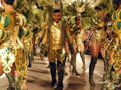 Una comparsa de las fiestas de Carnaval de Aguilas 2019