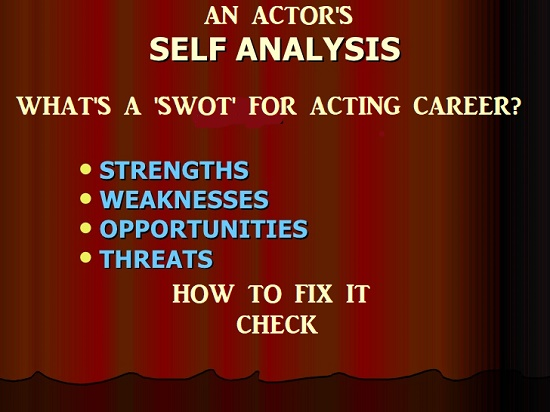 What's SWOT for an acting career?