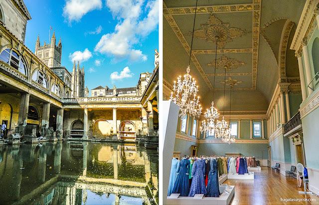 Viagens inspiradas em livros: Termas Romanas e Assembly Rooms, em Bath, Inglaterra