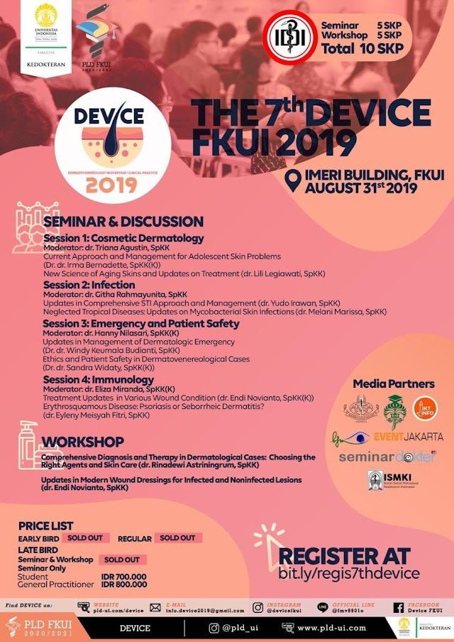 Seminars and Workshops in Dermatovenereology in Everyday Clinical Practice (DEVICE) 2019