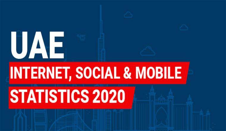 UAE Internet  Social,Mobile Statistics 2020 #Infographics