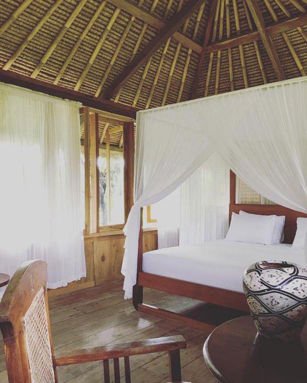 donde alojarse en gili air manusia dunia green lodge