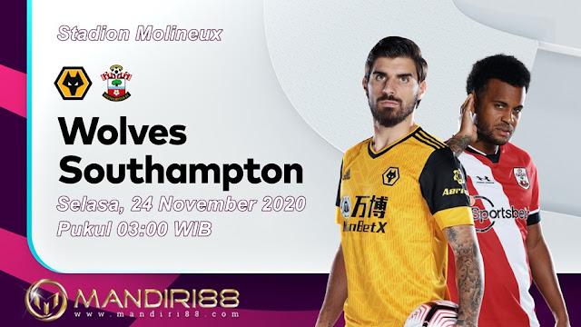 Prediksi Wolves Vs Southampton, Selasa 24 November 2020 Pukul 03.00 WIB @ Mola TV