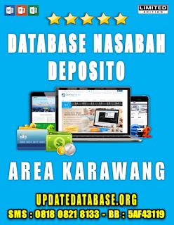 Jual Database Nasabah Deposito Karawang