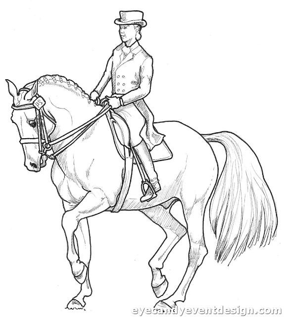 Ausmalbilder Pferde Mit Prinzessin